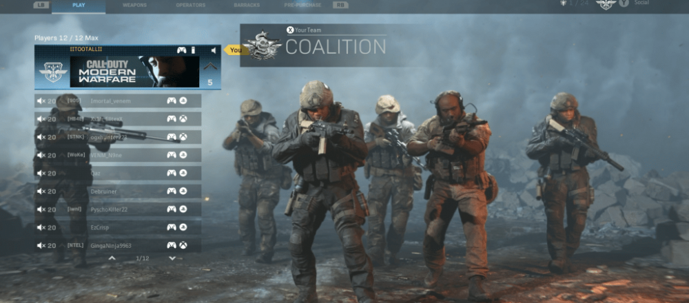 Modern Warfare Lobby