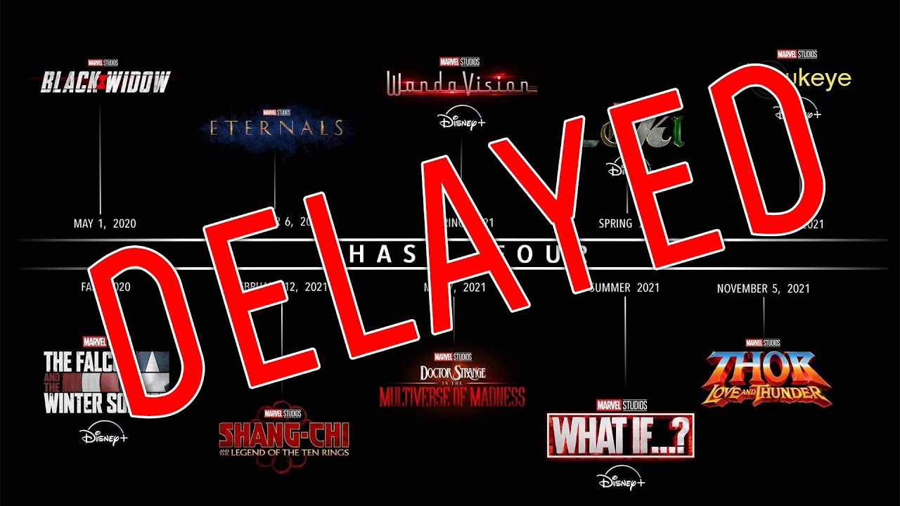 Marvel Cinematic Universe Phase 4 Slate Delayed