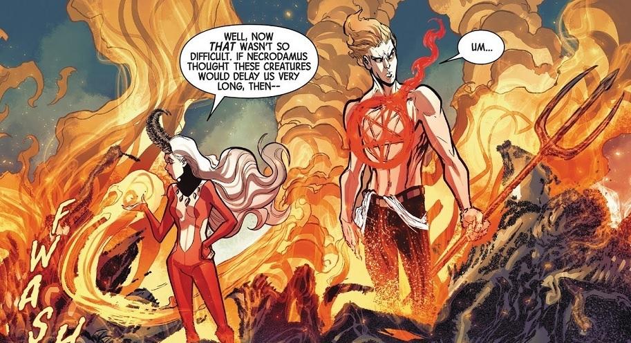 Satana & Daimon Helstrom Marvel Comics