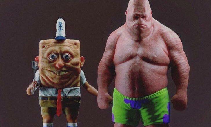 Spongebob Squarepants and Patrick hyper realistic art