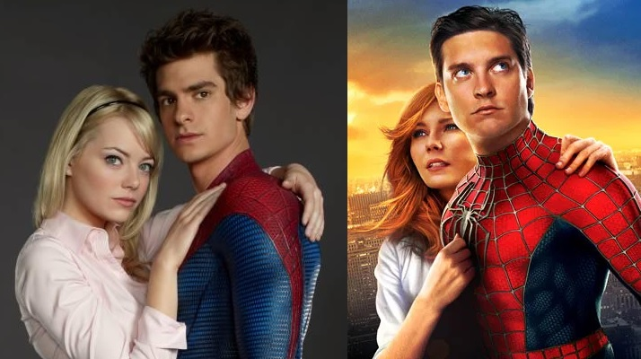 Spider Man Andrew Garfield Toby Maguire Gwen Stacy Mary Jane